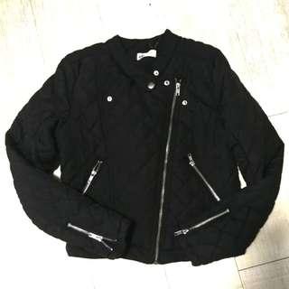 Black Bomber Quilted Jacket