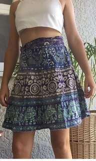 Boho wrap around tie up skirt