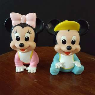 Baby Mickey Mouse & Minnie Mouse