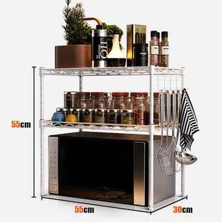 RC-Global Microwave Oven Shelf Rack Organizer 微波炉专用置物架 ( Spacelife, 2 tier , 55 x 30 x 55 cm)