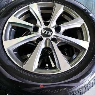 """Kia K3 15"""" Stock Rim and Tyres (TRADE BACK FROM NEW CAR)"""