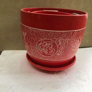 3 in one ceramic pot with Chinese design set