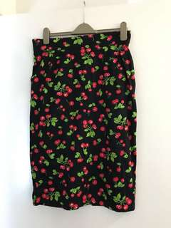 Pinup Couture Cherry pencil Wiggle skirt 14 pin up 50s vintage retro