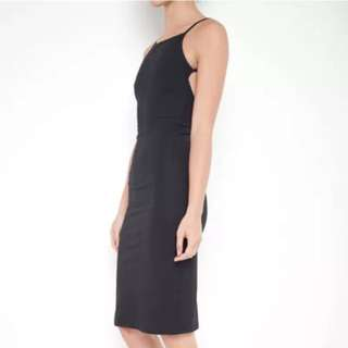 New INCYDA Vera Backless Midi Dress Black Size 6