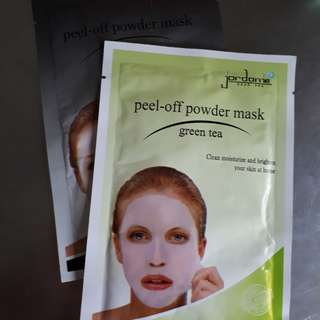 Jordanie Dead Sea Peel Off Powder Mask Green Tea 20 gr