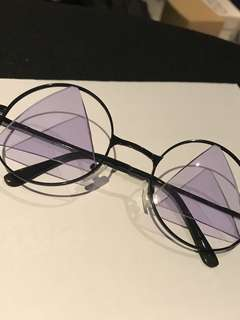Purple lens glasses
