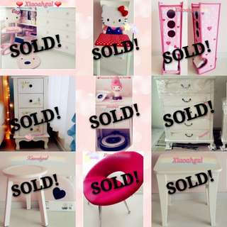 🔴ANY REASONABLE PRICE➡️ THANK U My followers supporting!🔴**Those follow but unfollow, Pls detour. Thks**🌟NEW AUTHENTIC French White Shabby Cottage European furniture (Storage hanger rack fridge sofa chest bench chair🌟💋No Pet No Smoker Clean Hse💋