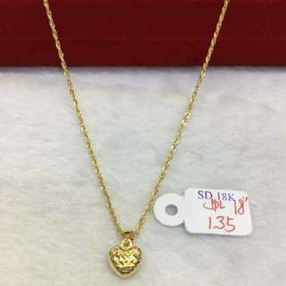 18k SD gold necklace pawnable