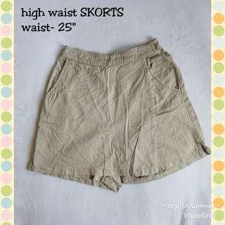 High waist SKORTS