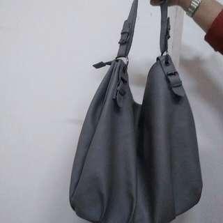 Tas tajur warna grey tas kulit jeruk