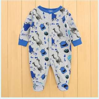Baby Boy Monster Footed Pyjamas