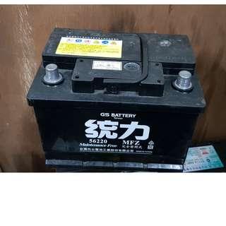 (二手中古電池) 統力 56220-免保養汽車電池 數值漂亮,品項優 同55566 56224 55457歐系車專用