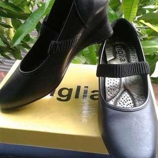 Black shoes wedge figlia