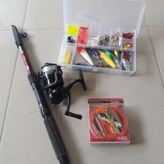 Fishing rod and reel whole set