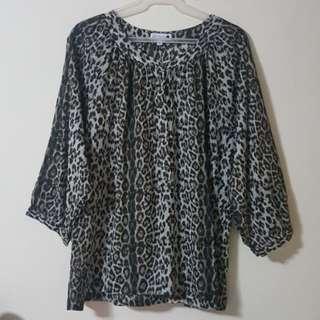 Cotton On Plus Size Leopard Shirt