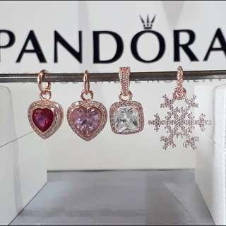 Pandora Rose Gold Charms