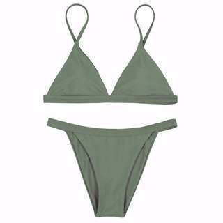 Sexy Army Green Two Piece