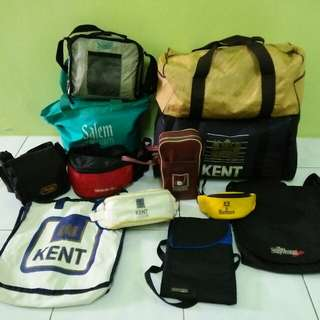 Pouch bag, sling bag & travel bag jenama rokok