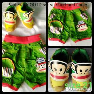 Paul Frank OOTD sweat shorts and Shoes (size 21)