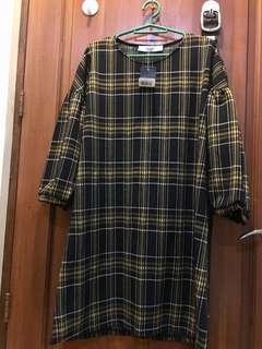 Mango puffed sleeve dress