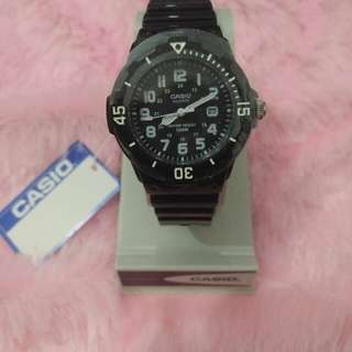 Casio Her Black dial resin band watch