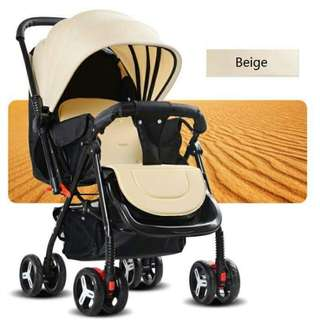 Portable infant deluxe stroller folding aluminum alloy