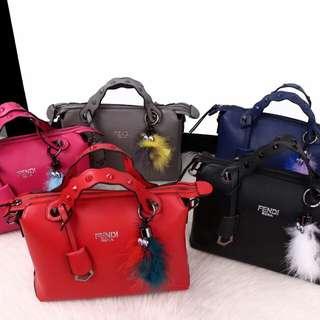 FENDI By The Way Ghw EliseFur Bags 4788*