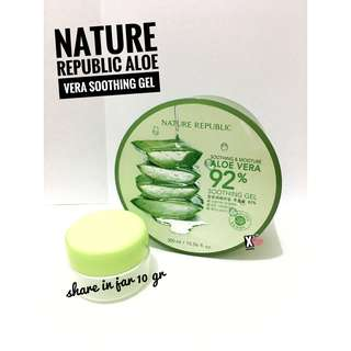 NATURE REPUBLIC ALOE VERA SOOTHING GEL SHARE IN JAR