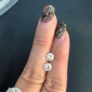 天然鑽石高色好火,2粒共1.52ct 只售21800