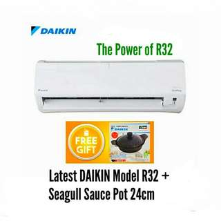 New Latest Daikin Air Cond 1.0hp + Gift