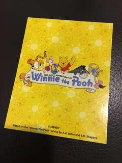 絕版 香港迪士尼樂園 維尼熊遊戲 照片號碼卡