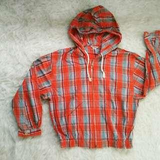 Jaket kemeja hoodie