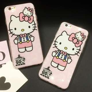 手機殼IPhone6/7/8/plus(沒有X) : HelloKitty吉蒂貓全包邊光面軟殼