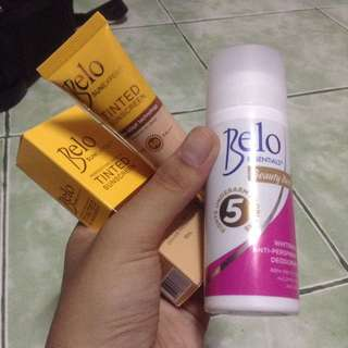 BUNDLE! Bnew Belo Tinted Moisturizer and Belo Essentials Beauty Deo