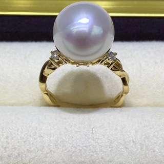 18K金澳洲白珠12mm完美無瑕,冷光澳白的點綴,爲您的氣質加分。 💰💰優惠價發售,歡迎咨詢訂購😊