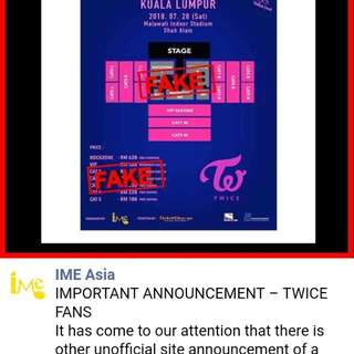 FAKE Twice Concert Ticket Scams