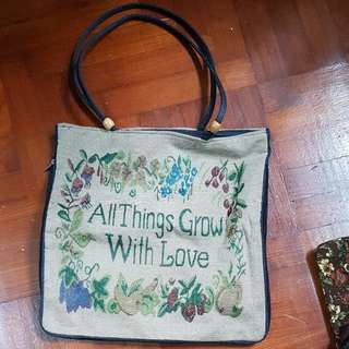 BN all things grow with love bag