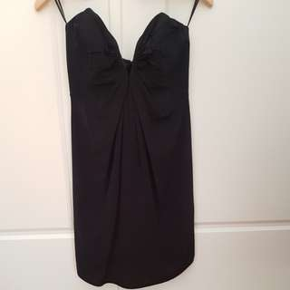 ZIMMERMANN silk strapless dress Black Size 0