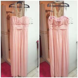 Long Peach Gown