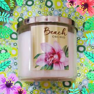 Bath and Body Works Beach Orchid 3 Wick Candle