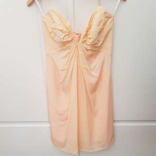 ZIMMERMANN silk strapless dress Peach Size 0