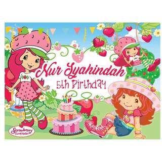 Strawberry Shortcake Backdrop Banner