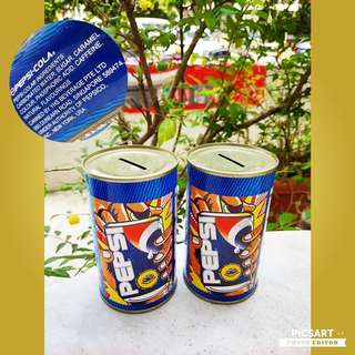 Collectable Singapore PEPSI Coinbanks for Sale. Each $5 or both for $8 clearance offer. Unused, Good Condition. Sms 96337309.