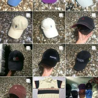 Topi Bekas Second Original Polo JMB Thrasher Champion Bean Pole Reebok