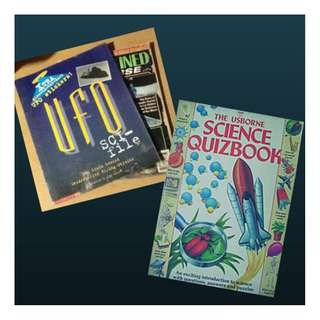 BUNDLE SALE: UFO SCI-FI & SCIENCE QUIZ BOOK SET + FREE Unexplained Universe Magazine