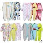 3-Pc Baby Cotton Sleepsuit Pack