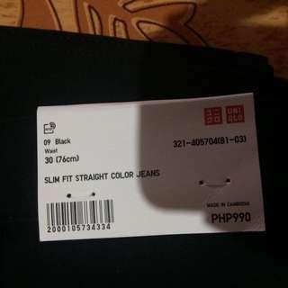 Uniqlo Slim Fit Straigh Color Jeans