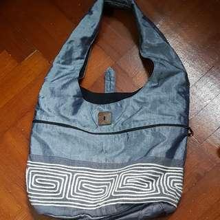 BN fabric blue bag