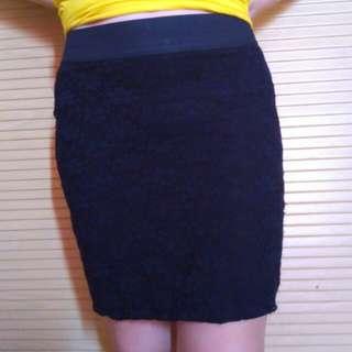 Lace mini skirt