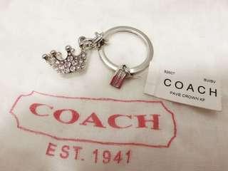 Coach Swarovski Crystal Crown Keychain/Ring Bag Chain #92607